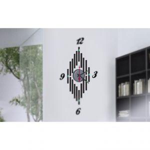 Horloge murale sticker Design Symétrie