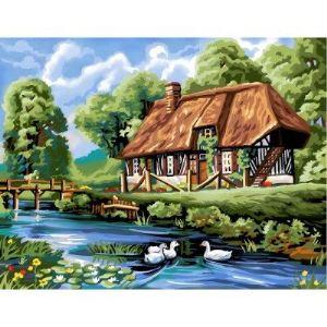 Oz international Peinture au numéro : Maison normande