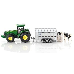 Siku 1956 - Tracteur John Deere avec remorque bétaillère - Echelle 1:50