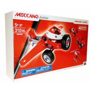 Meccano 6026701 - Junior : Avion 4 modèles