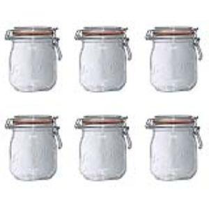 Le Parfait 6 bocaux Super en verre (0,75 L)