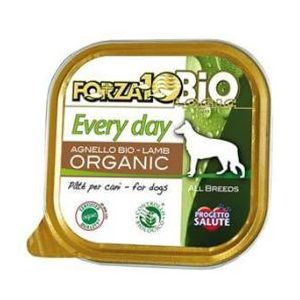 Forza10 Nourriture Humide bio pour Chiens Every Day - Agneau 300g