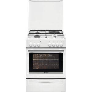 brandt bcm6652w cuisini re mixte 3 foyers gaz avec four. Black Bedroom Furniture Sets. Home Design Ideas