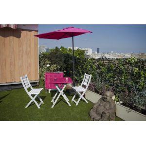 City green Cuba - Demi-parasol de balcon rectangulaire (230 x 130 cm)