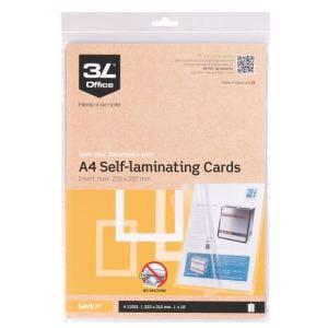3L 10 pochettes de plastification à froid format A4 (100/200 µ)