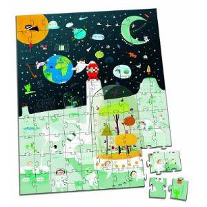 Janod Puzzle valisette: L'espace 100 pièces
