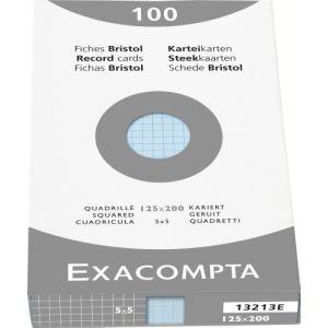 Mystbrand Etui de 100 fiches bristol 205 g quadrillé 5x5 non perforées (148 x 210 mm)