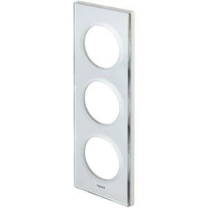 Legrand 69123 - Plaque d'encadrement Céliane 3 postes verre miroir