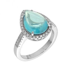 Blue Pearls Cry J415 X - Bague en argent et 49 cristaux Swarovski