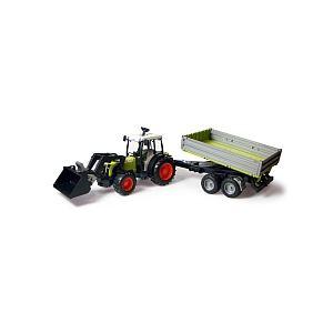 Bruder Toys 1998 - Tracteur Claas avec fourche et remorque