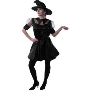 Déguisement petite sorcière mode noire femme Halloween