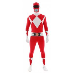 Déguisement morphsuits Power Rangers rouge adulte