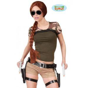 Cartouchiere double avec pistolets Lara Croft