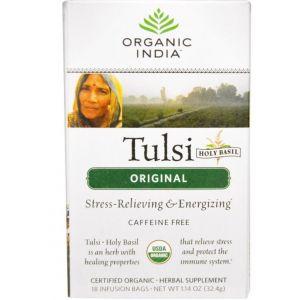 Organic india Thé de basilic sacré - Boîte de 25 sachets