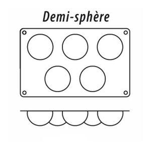 Guéry Moule demi-sphère 5 figures en silicone
