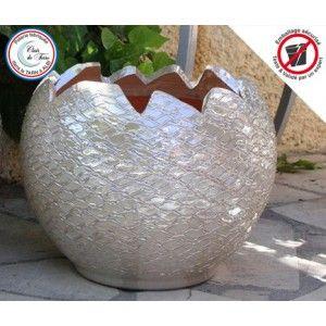 Clair de Terre Callisto - Poterie en terre cuite émaillée forme boule Ø30 x 30 cm