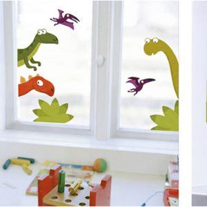 Sticker fenêtre La famille Dino