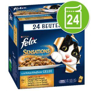 Felix Sensations gelée 24 x 100 g pour chat - sélection au poisson