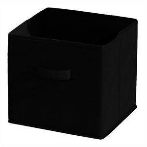 panier de rangement tissu noir comparer 61 offres. Black Bedroom Furniture Sets. Home Design Ideas