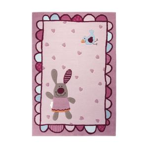 Sigikid Tapis de tapis enfant Happy Friends Hearts (170 x 240 cm)