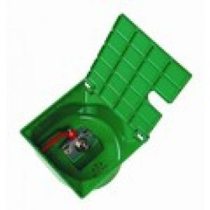 Nicoll Bouche d'arrosage carrée verte à robinet 1/4'' tour PVC BAC227