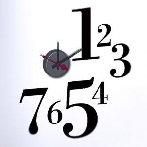 Horloge murale sticker Design Old Time