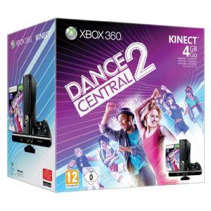 Microsoft Xbox 360 Slim 4 Go Pack Kinect Adventures + Dance Central 2 - La console, le capteur, les 2 jeux