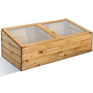 Jardipolys 0100102 - Serre double en bois 100 x 50 x 34 cm