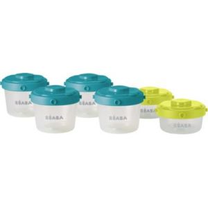 Beaba 912481 - 6 portions Clip 1er âge 60 ml et 120 ml