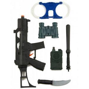 Kit policier enfants avec mini famas et accessoires