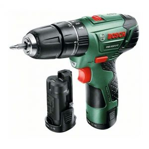 Bosch PSB 10,8 LI-2 Li-Ion - Perceuse-visseuse sans fil 10.8V 2Ah + 2 batteries + mallette