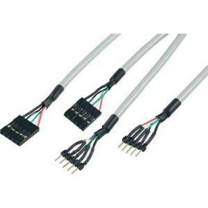 Rallonge USB 2.0 mâle 5 pôles / USB 2.0 femelle 5 pôles internes