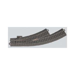 Märklin 24671 - Aiguillage courbe gauche R1 30° voie C - Echelle 1:87 (H0)
