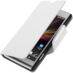 Avizar FOLIO-VINT-WH-M35 - Étui à clapet pour Sony Xperia SP