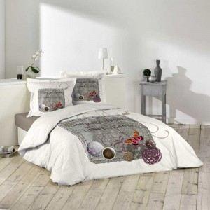 Douceur d'Intérieur Sleepy - Housse de couette et 2 taies 100% coton 42 fils (220 x 240 cm)