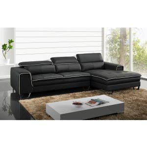 Canapé d'angle droit Oxygène en cuir