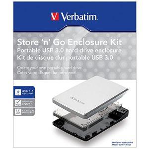 """Verbatim 53100 - Boîtier externe Store 'n' Go pour disque dur SATA 2.5"""" vers USB 3.0"""