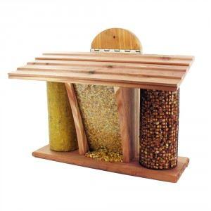 """Mangeoire pour oiseaux avec 3 compartiments """"Le Restaurant"""""""
