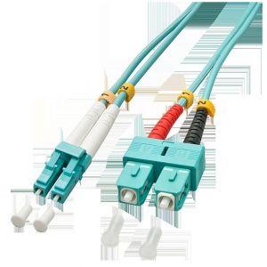Lindy 46395 - Câble Ethernet Fibre optique Duplex LC/SC OM3 15 m Bleu