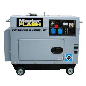 Defitec DEF 6000S - Groupe électrogène diesel insonorisé monophasé 5000W