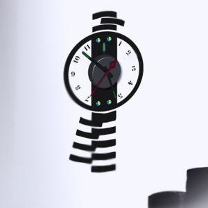 Horloge murale sticker Design Balancier