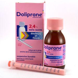 Sanofi Doliprane - Sirop 2,4% pour enfant de 3 à 26 kg (100 ml)