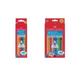 Faber-Castell 6 Crayons de couleur Jumbo Grip assortis