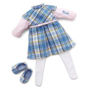 Trudi Sevi Robe écossaise pour poupée Grace (38 cm)