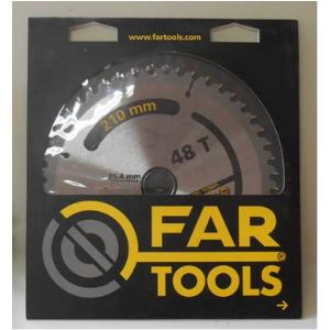 Far Tools 113823 - Lame de scie à onglet 48 dents 210 x 25,4 mm