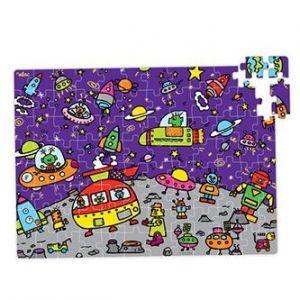 """Vilac 2579 - Puzzle """"l'Espace"""" en valise (96 pièces)"""