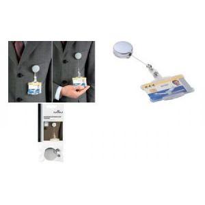 Durable 8228-23 - Porte-badge avec enrouleur mécanique