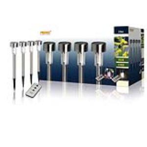 Ranex 5000.402 - 4 bornes solaire couleur changeante à télécommande