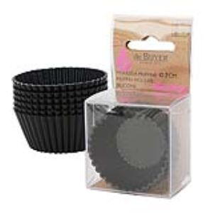 De Buyer 1985.07 - 6 moules à muffins en silicone (7 cm)