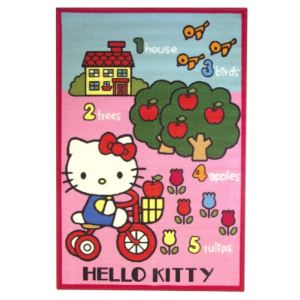 Fun House Tapis Hello Kitty ludique jardin (120 x 80 cm)